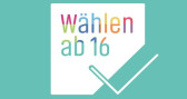 """Link zum Wahlportal """"Wählen ab 16"""""""