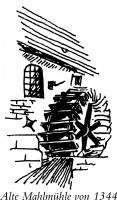 Das Logo der Alten Mühle Burgberg