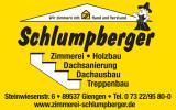 Logo mit Leistungen und Adresse
