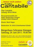 Flyer Cantabile-Konzert