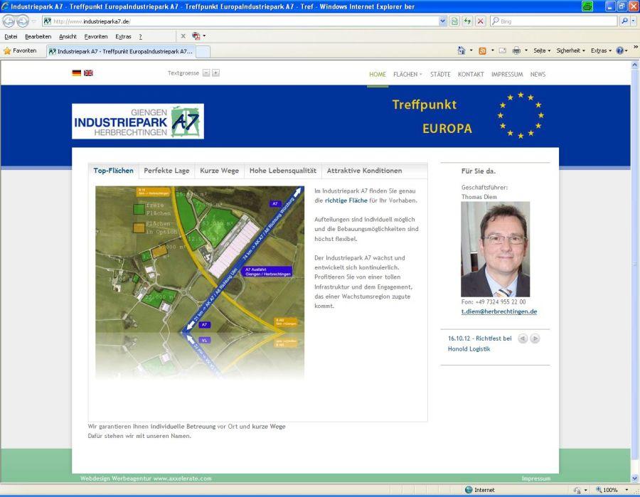 Link zur Homepage des Industriepark A7 - Seite öffent in neuem Fenster