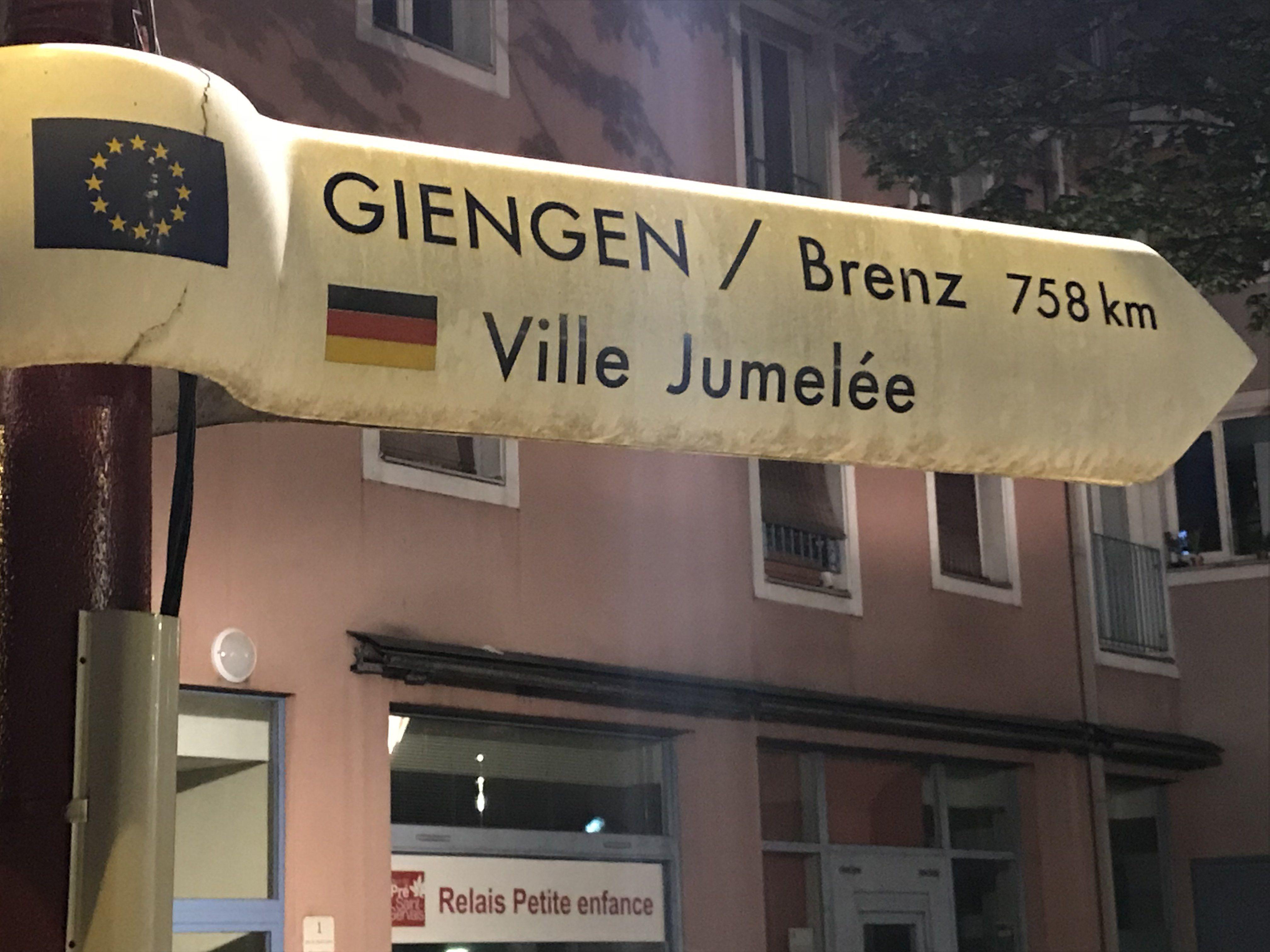 Straßenschild in Le Pré St. Gervais