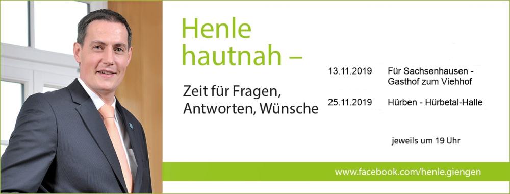 Banner zur PM Henle Hautnah für Sachsenhausen