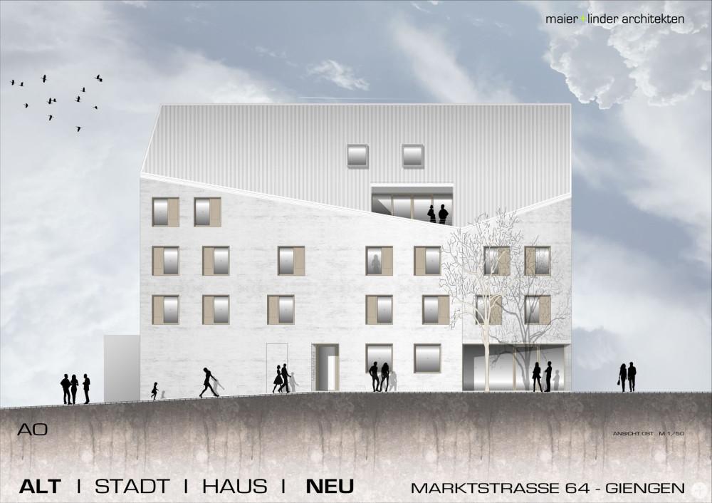 """Ansicht """"Marktstraße 64"""" - maier+linder architekten"""