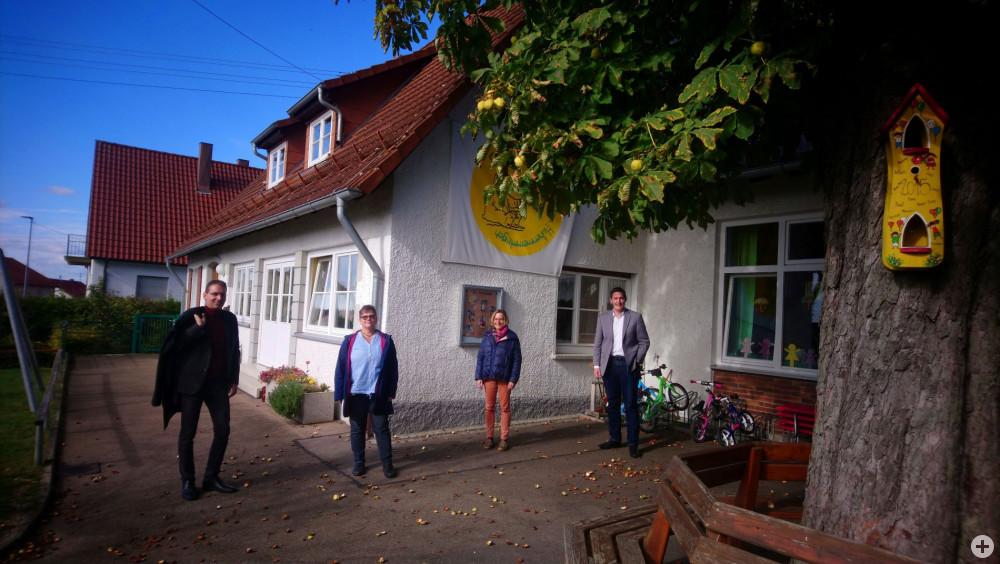 OB Henle zu Besuch im Kiga Käppelesberg