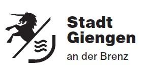 Neues Logo Stadt Giengen  - schwarz auf weiß