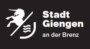 Neues Logo Stadt Giengen - weiß auf schwarz